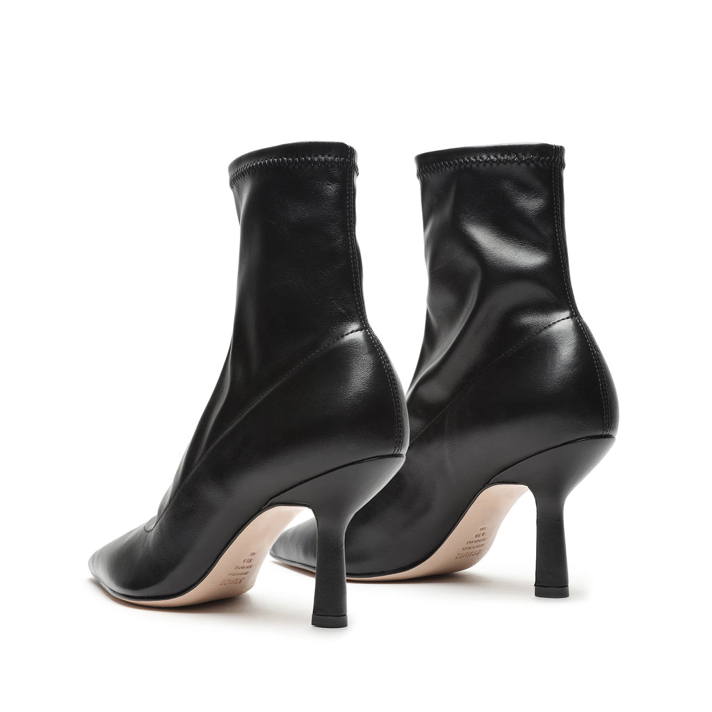 Charleni Stretch Leather Bootie in Black