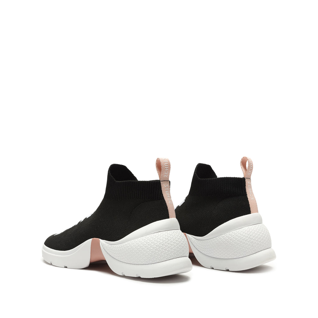 Ellie Knit Sneaker in Black