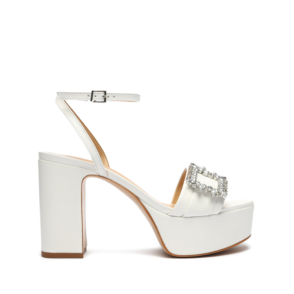 Nates Leather Sandal in White