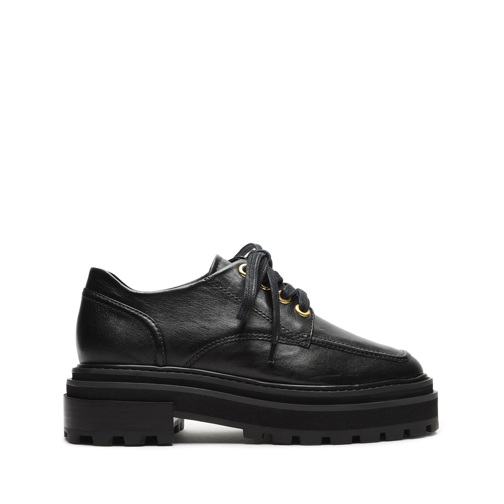 Bethie Leather Oxford in Black