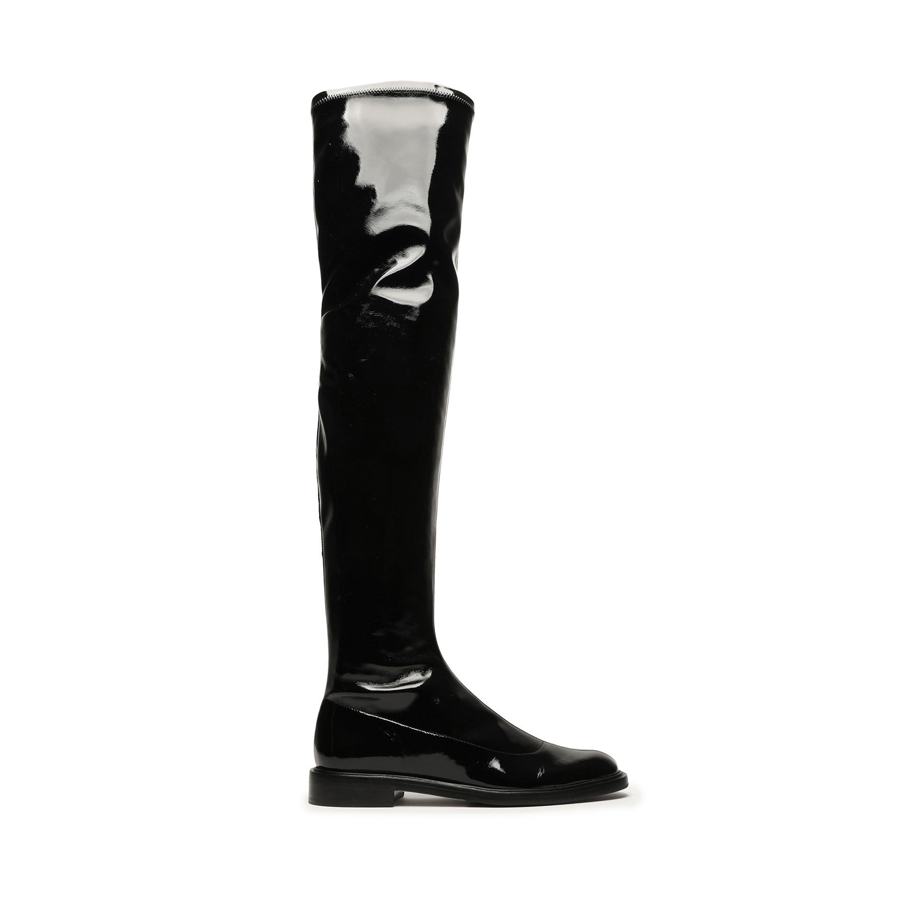 Kaolin Stretch Patent Leather Boot