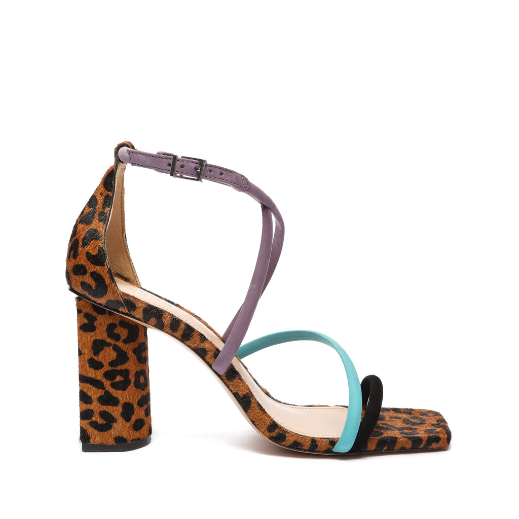 Kalab Printed Leather Sandal in Leopard