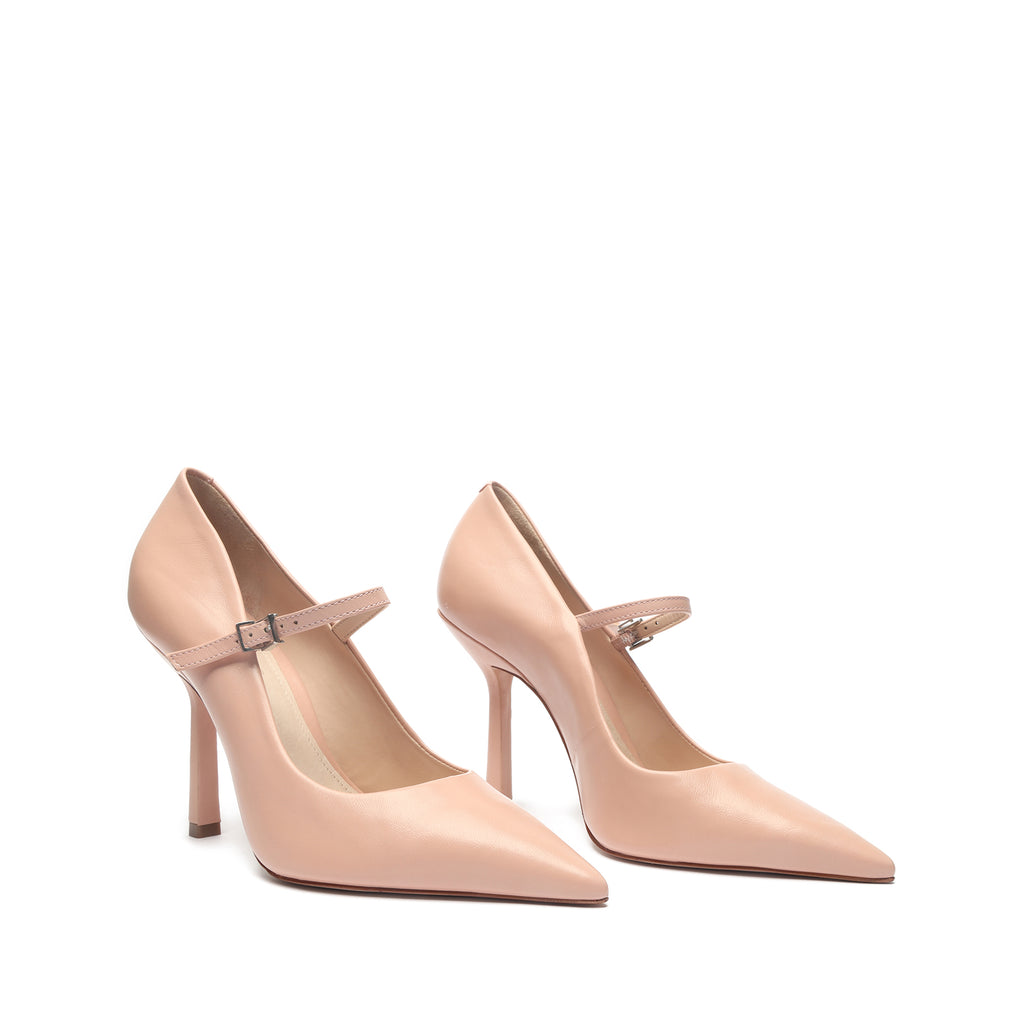 Suze Leather Pump in Sweet Rose