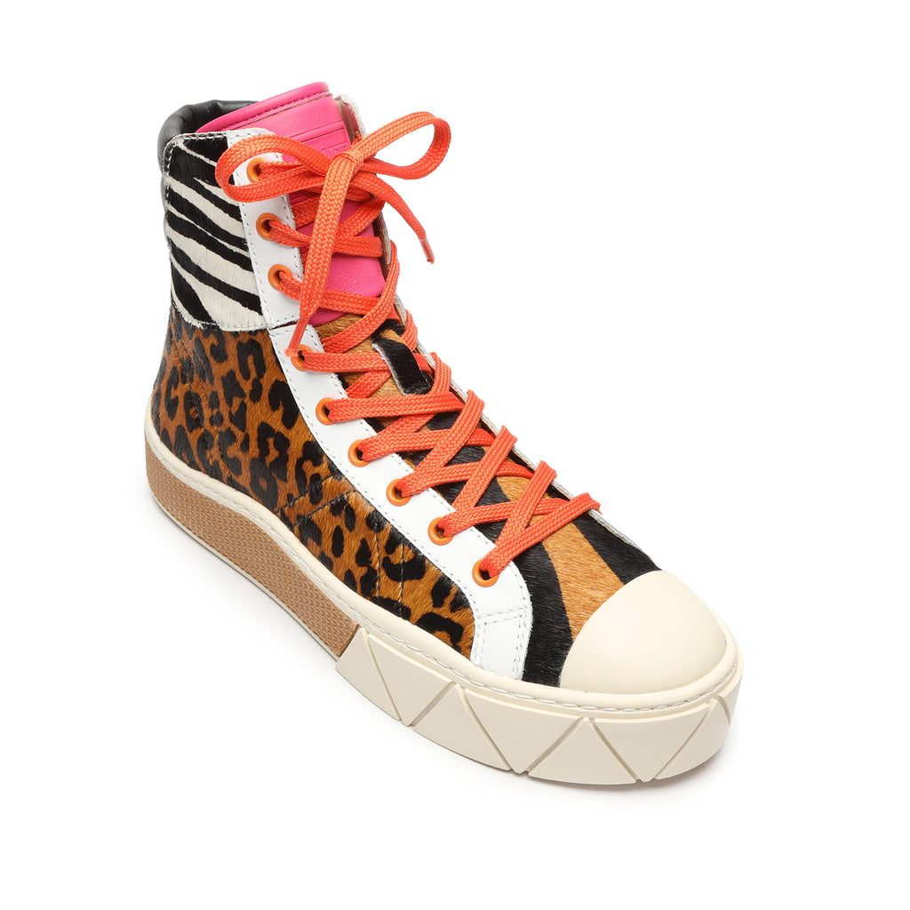 Carly Sneaker in Leopard and Zebra