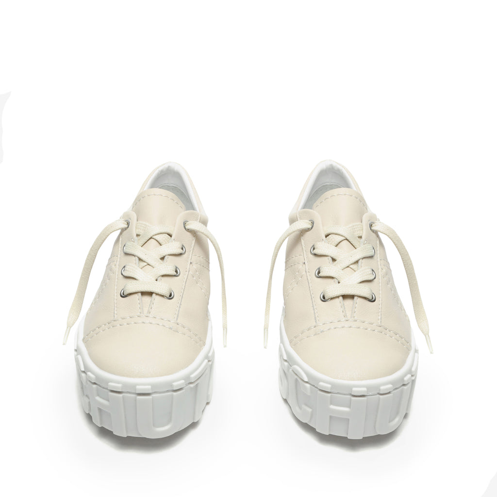 Stela Leather Sneaker in Sugar White