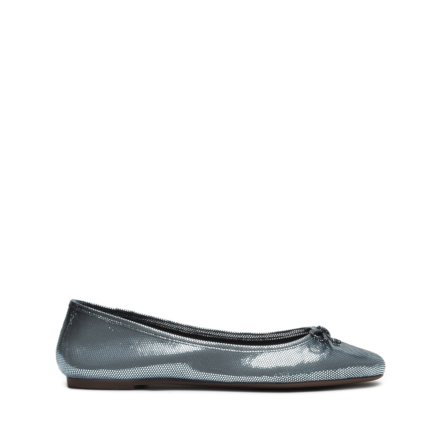 Damaris Metallic Leather Ballet Flat