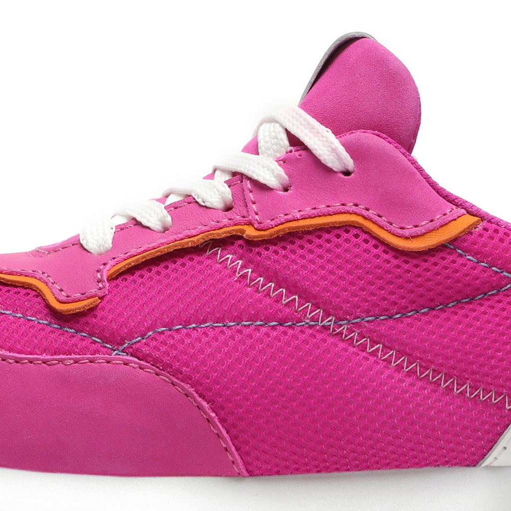 Penny Mixed Media Sneaker in Pink