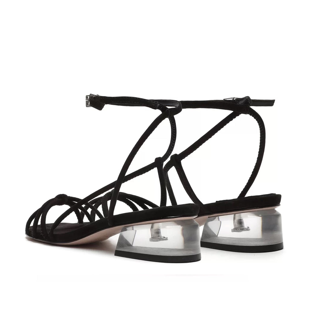 Thayla Leather Sandal in Black