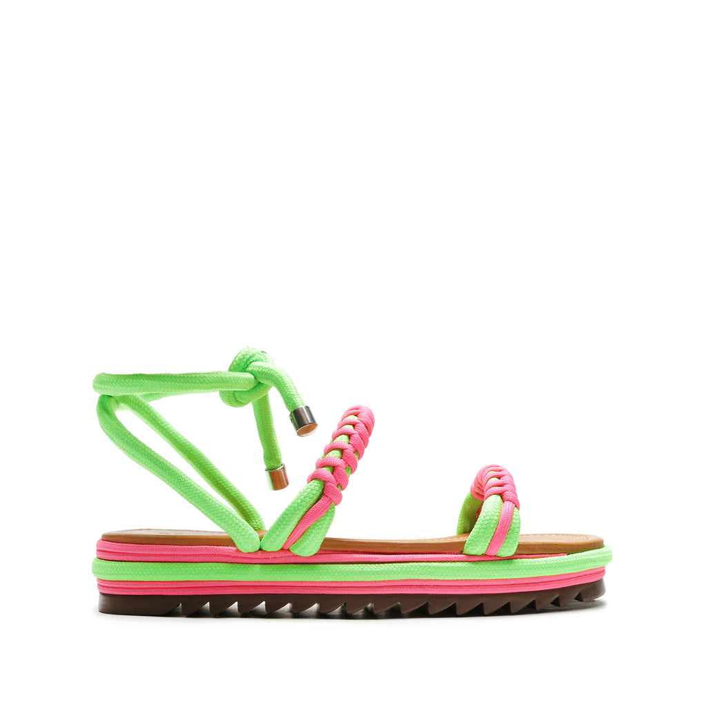Claire Rope Sandal in Pink