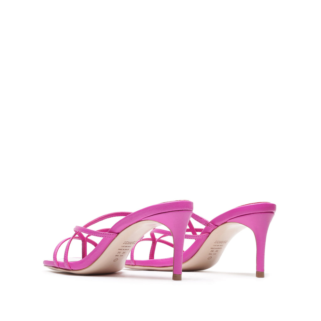 Tyna Leather Mule in Pink