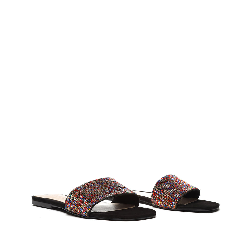 Angelle Leather Sandal in Black