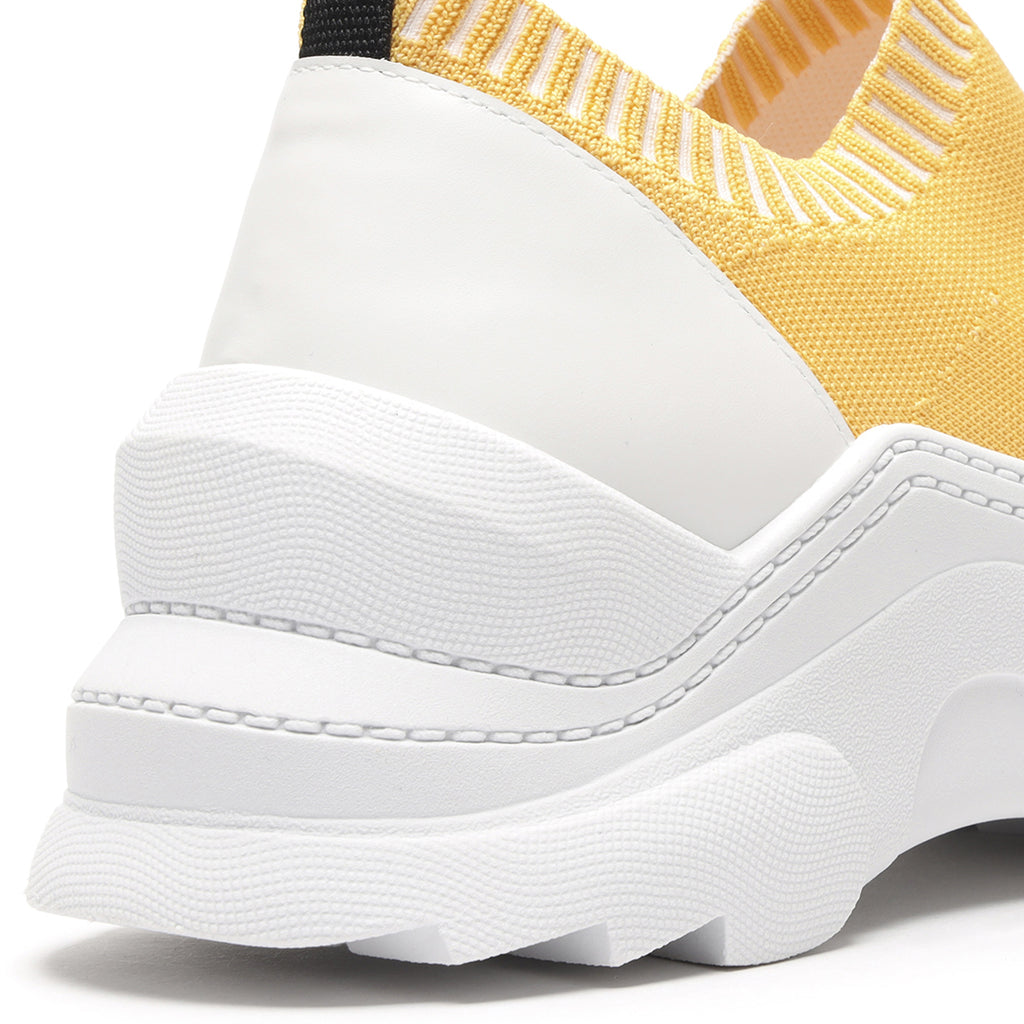 Evilyse Knit Sneaker in Yellow