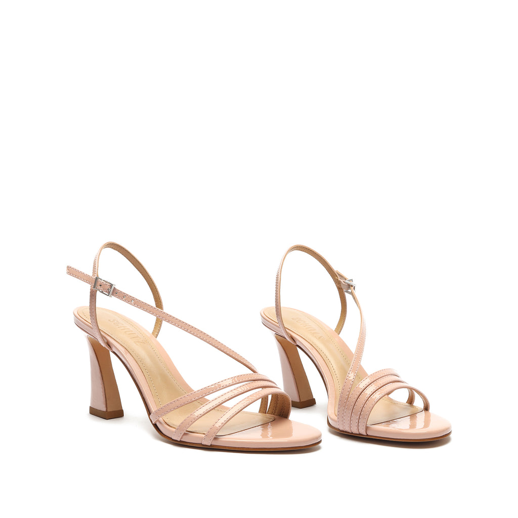 Milenny Patent Leather Sandal in Blush