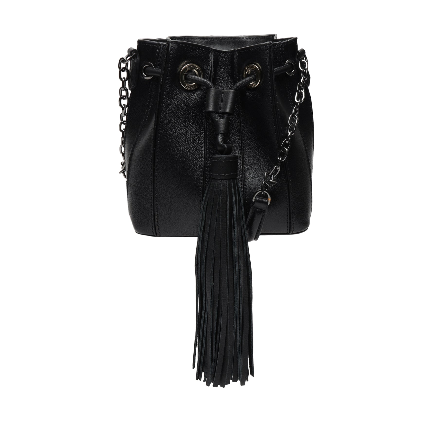 Grace Leather Drawstring Bag