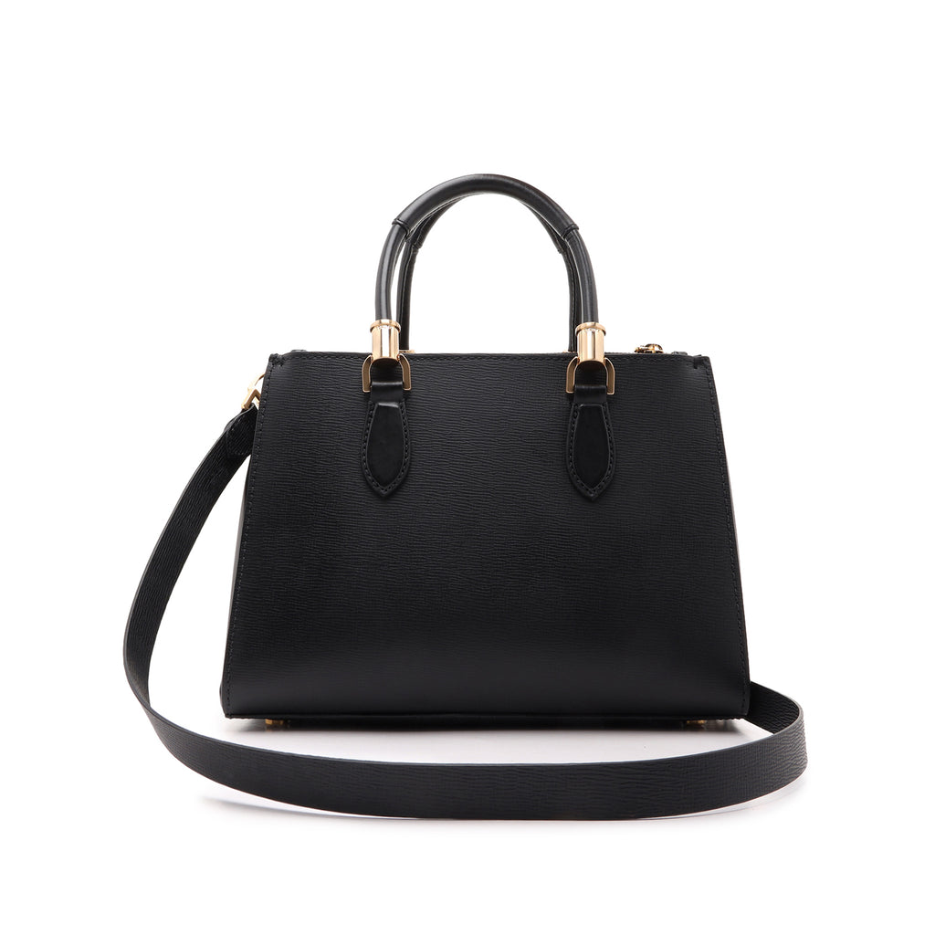 Lorena Leather Bag in Black