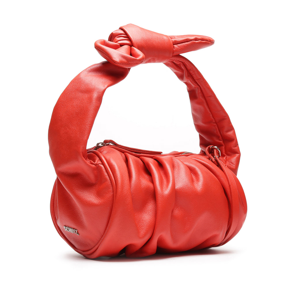 Demi Leather Bag in Red Orange