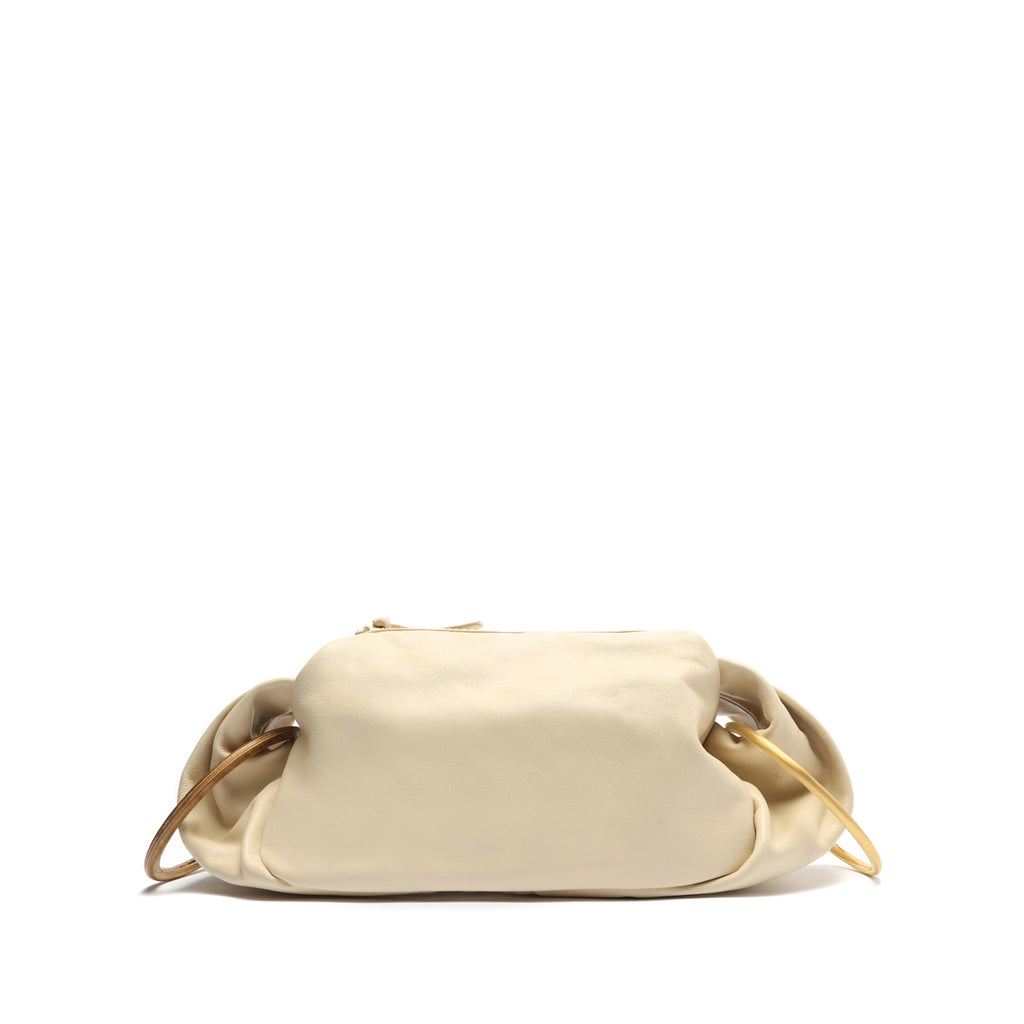 Paris Leather Crossbody in Eggshell
