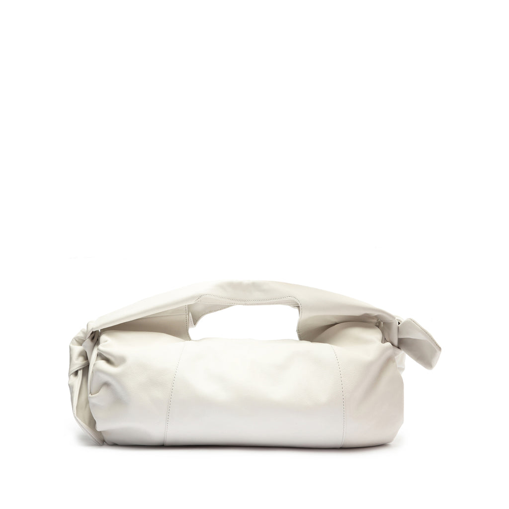 Shopping Demi Leather Bag in White