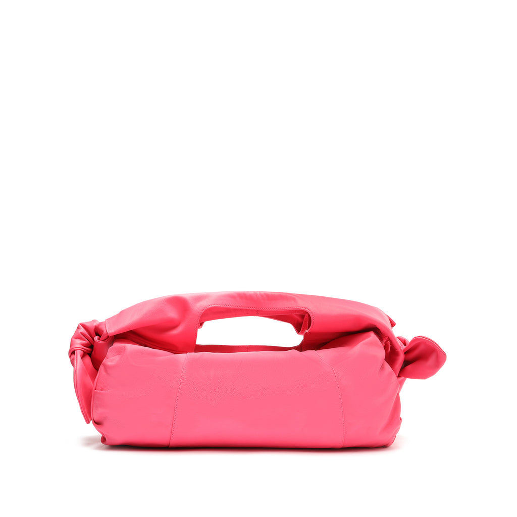 Shopping Demi Leather Bag in Pink Lemonade