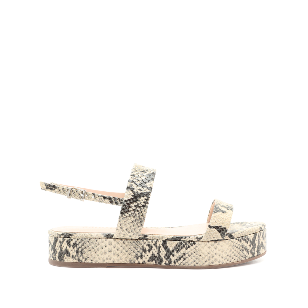 Sally Sandal in Natural Snake