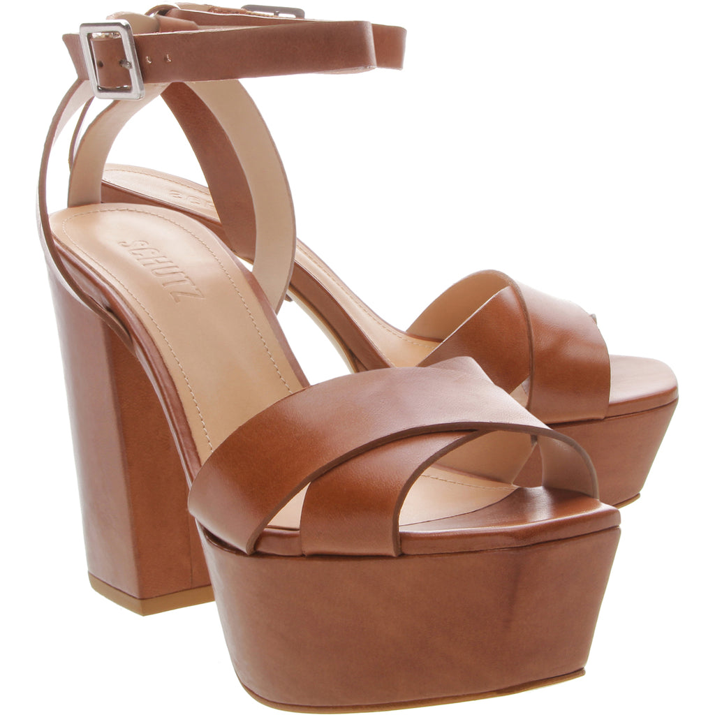Saphire Sandal in Wood