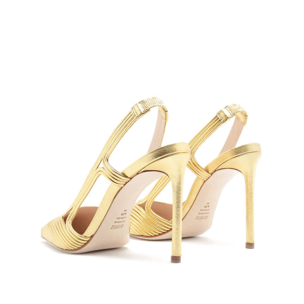 Sol Slingback Pump in Gold