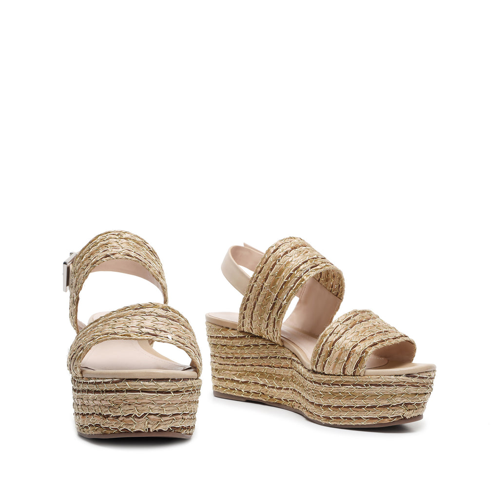 Tiziana Wedge Sandal in Natural