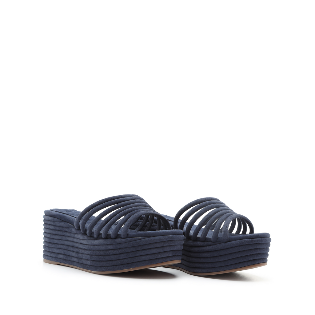 Valley Wedge Sandal in Sailfish Blue