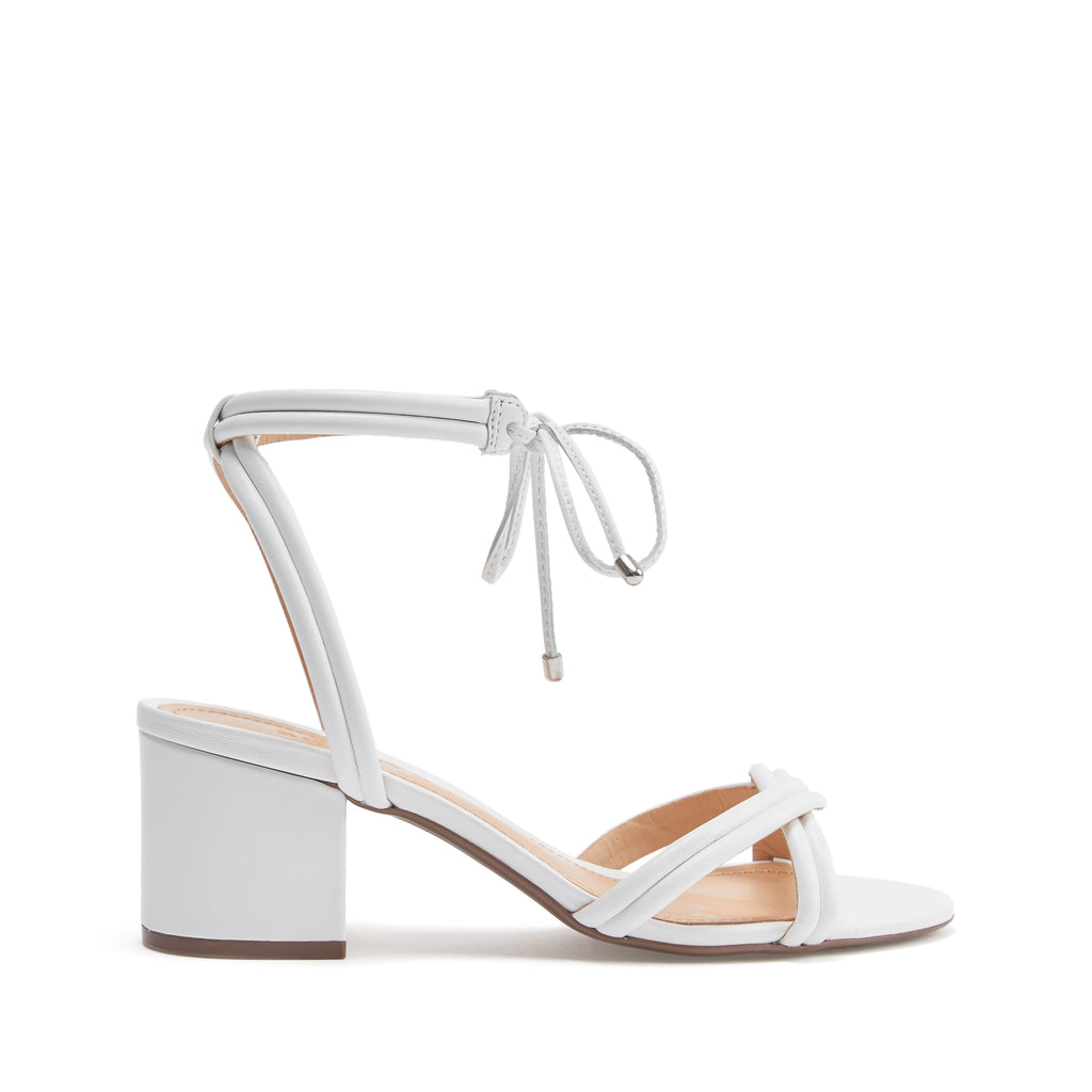 5e15c8ede67 S-Veronica Low Heel Sandal in White With Ankle Ties
