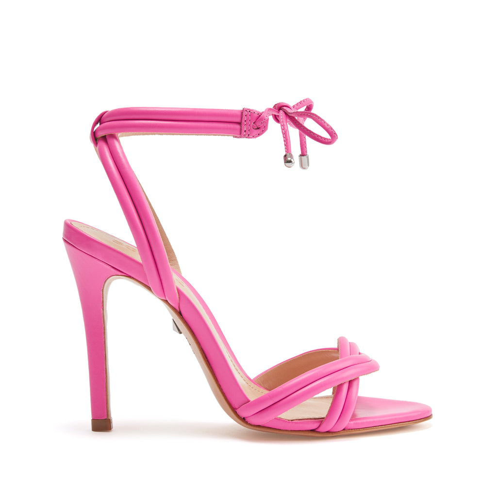 42fb1033d Yvi High Heel Sandal with Ankle Tie in Neon
