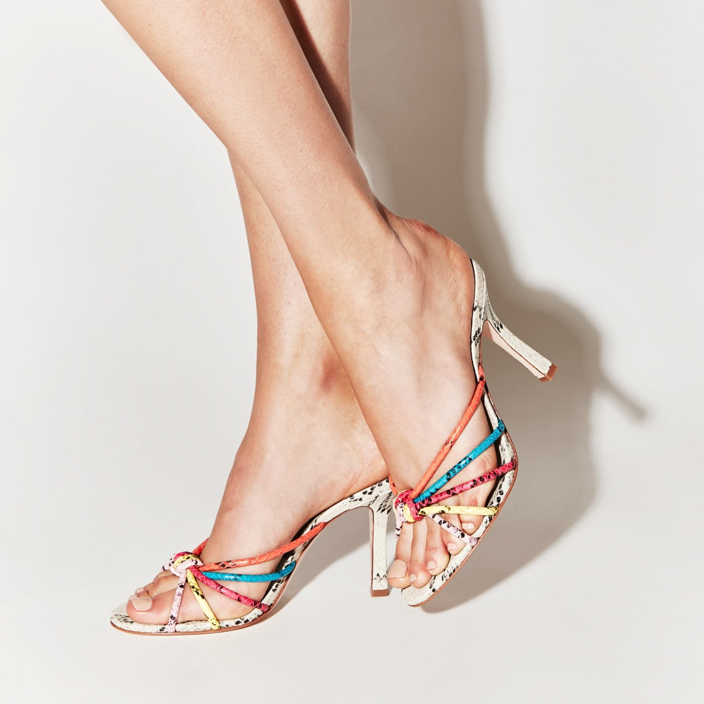 Rina Sandal in Snake Multi