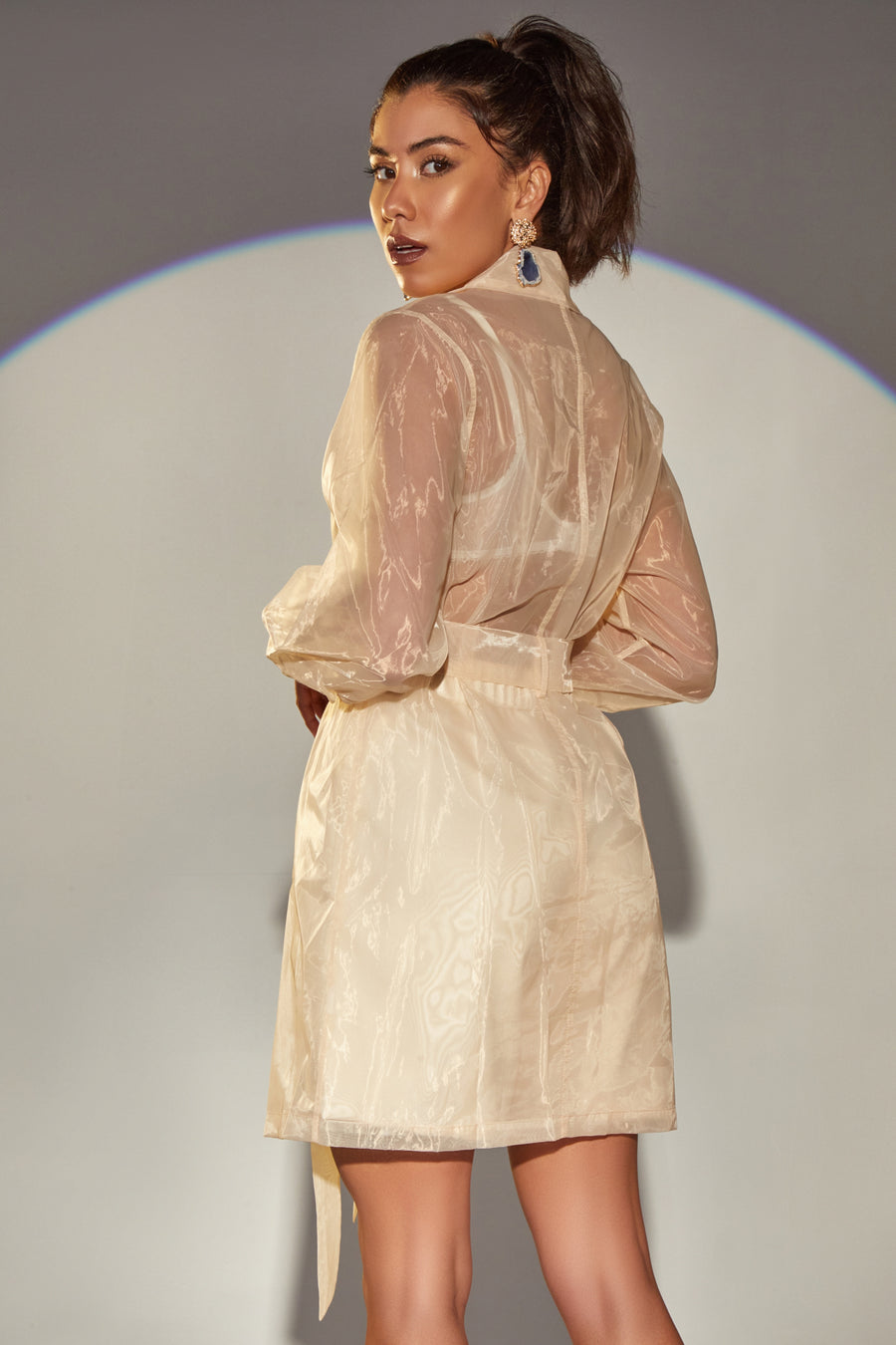 ICED CHAI ORGANZA TRENCH