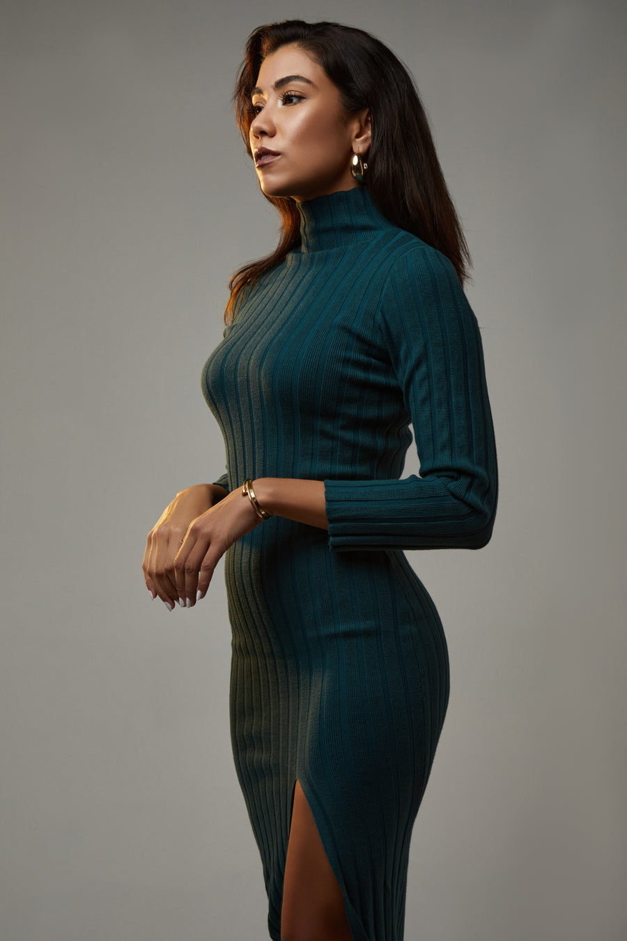 SPICED KNIT MIDI DRESS