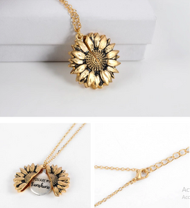 """ YOU ARE MY SUNSHINE "" - SUNFLOWER NECKLACE + FREE GIFT BOX"