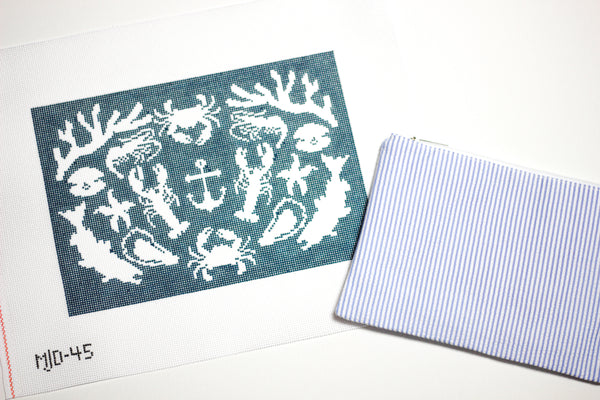 Seafood Social Needlepoint Kit