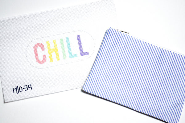 Pastel Chill Pill Needlepoint Kit
