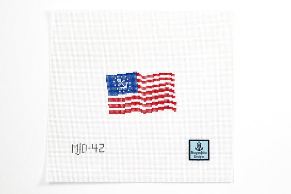 American Yacht Ensign Needlepoint Canvas