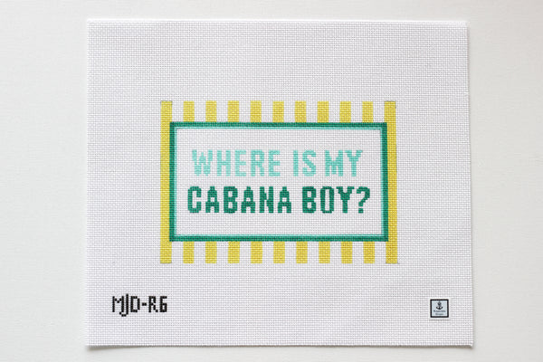 Cabana Boy Clutch Needlepoint Canvas