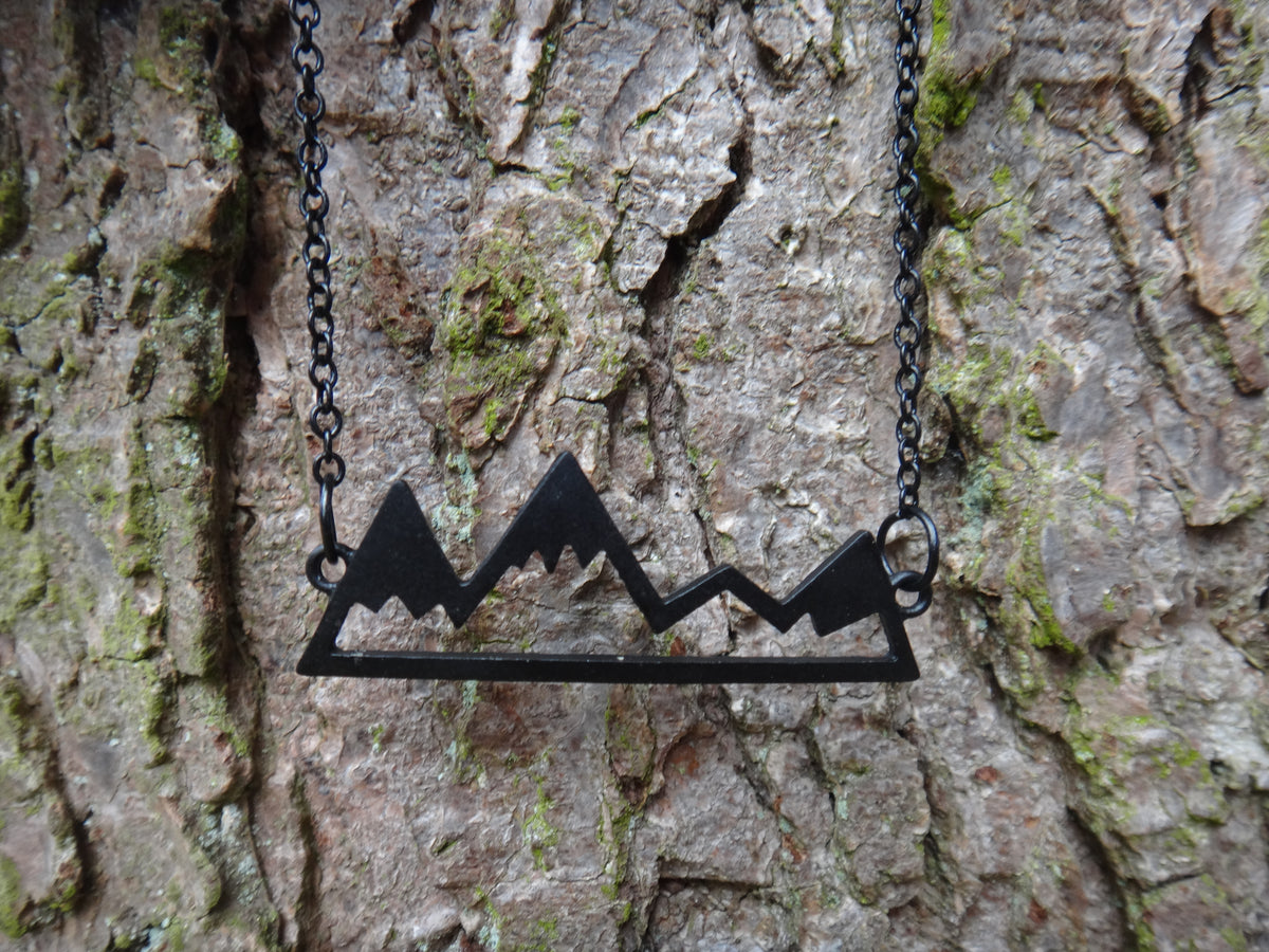 To The Mountains and Back Necklace - Black - West Coast Skies