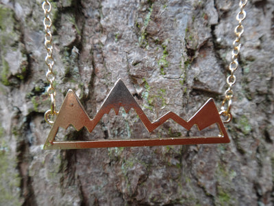 To The Mountains and Back Necklace - Gold - West Coast Skies
