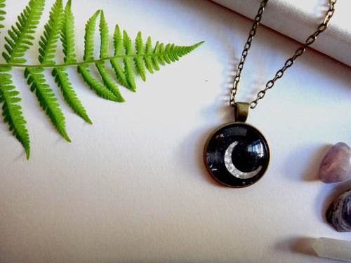 Dark Moon Pendant - Antique Bronze - West Coast Skies