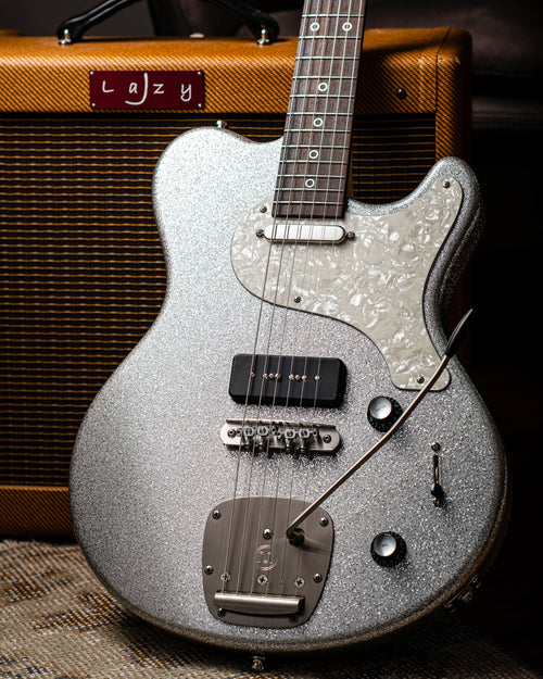 Nik Huber Piet Silver Sparkle with Mastery Trem - Rebellion Guitar Co.