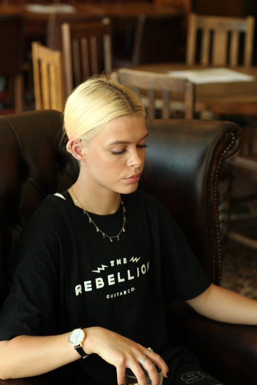 Women's Rebel Tiger Tee - Black - Rebellion Distribution