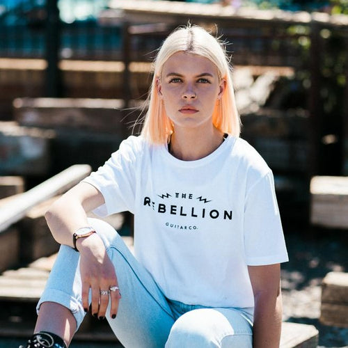 Women's Rebel Tiger Tee - White - Rebellion Distribution