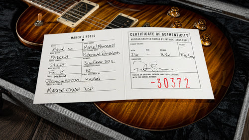 Patrick James Eggle Macon Singlecut Faded Gold Burst 'Vintage 59' Brazilian Rosewood #30372 - The Renegade Guitar Co.