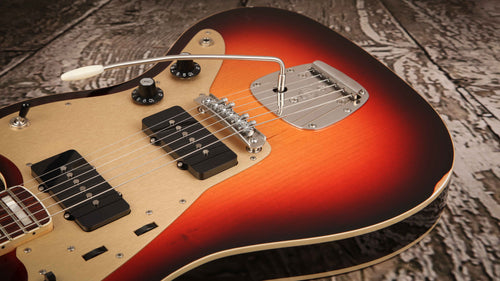 Iconic Guitars Vintage JM Elegante Nitro 3 Tone Sunburst #0121 - Rebellion Distribution