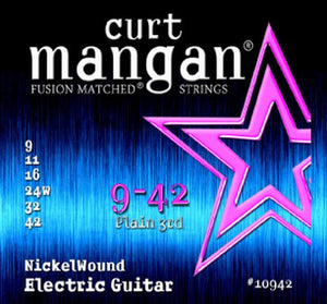 Curt Mangan 9-42 Nickelwound Electric Set - Rebellion Guitar Co.