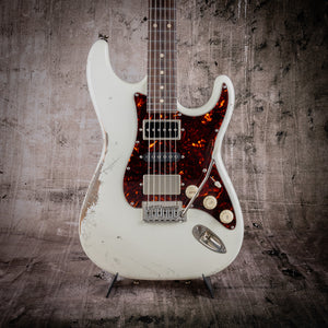 Tom Anderson Icon Classic Distressed Olympic White #09-24-20P - The Renegade Guitar Co.