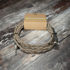 Rattlesnake Cables Snake Weave 10ft (3.0m) S/A - Rebellion Guitar Co.