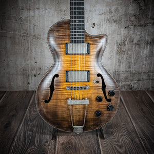 Wide Sky Guitars P125 Cutaway Hand Rubbed Tobacco Burst - Rebellion Guitar Co.
